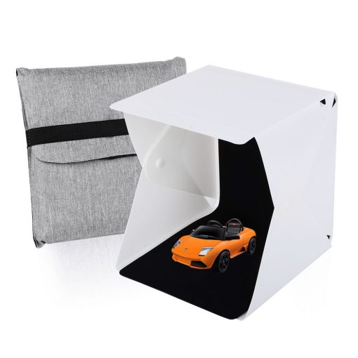 LED Photo Cube with 2 backdrops (20cm)